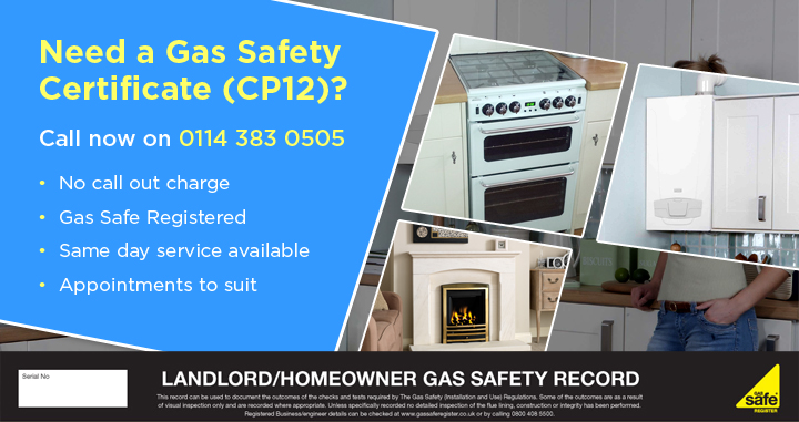 Landlord Safety Certificates - just £75 + vat - call 0114 383 0505